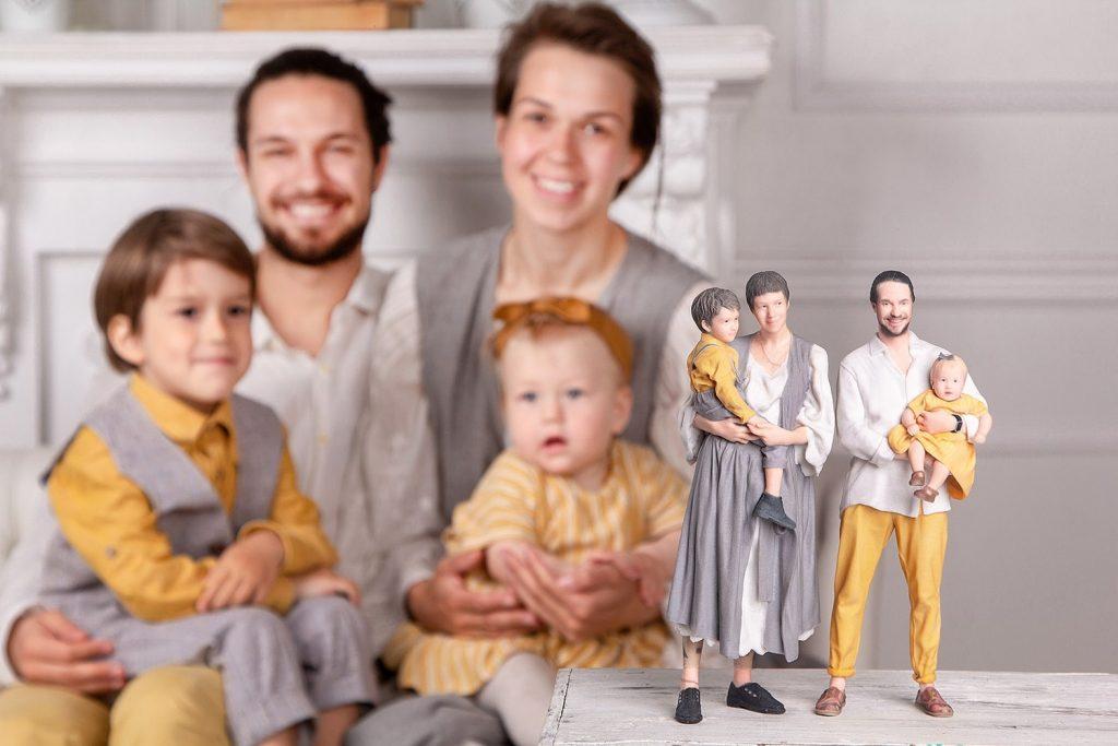 3d figuren familie