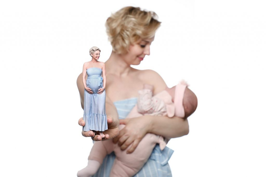 3d figuren Schwangerschaft 4