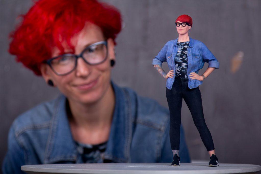 3D Figur mit Brille