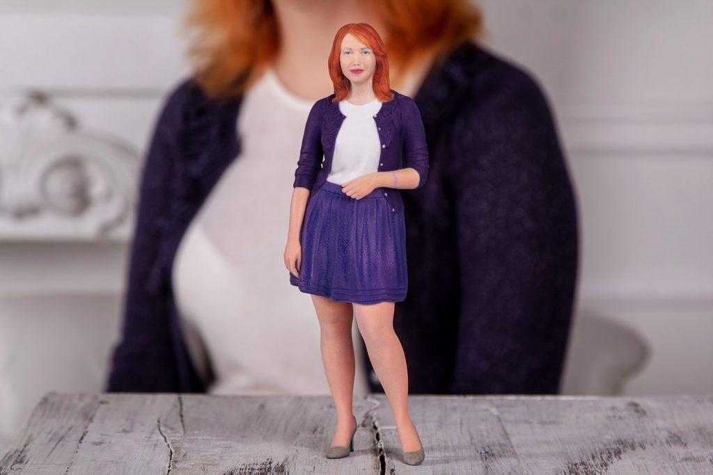 3D-Figur rothaarigen Frau