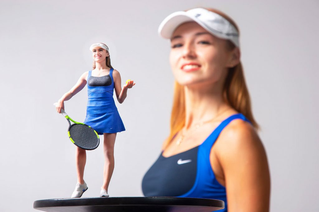 3d figure Tennis player