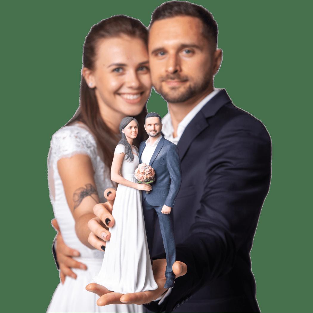 3D-Selfie einer Hochzeit