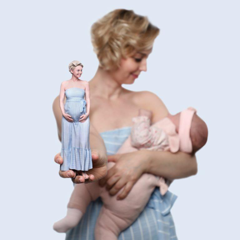 3d figuren schwangerschaft