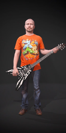 3D-Figur GuitarVideo Screen