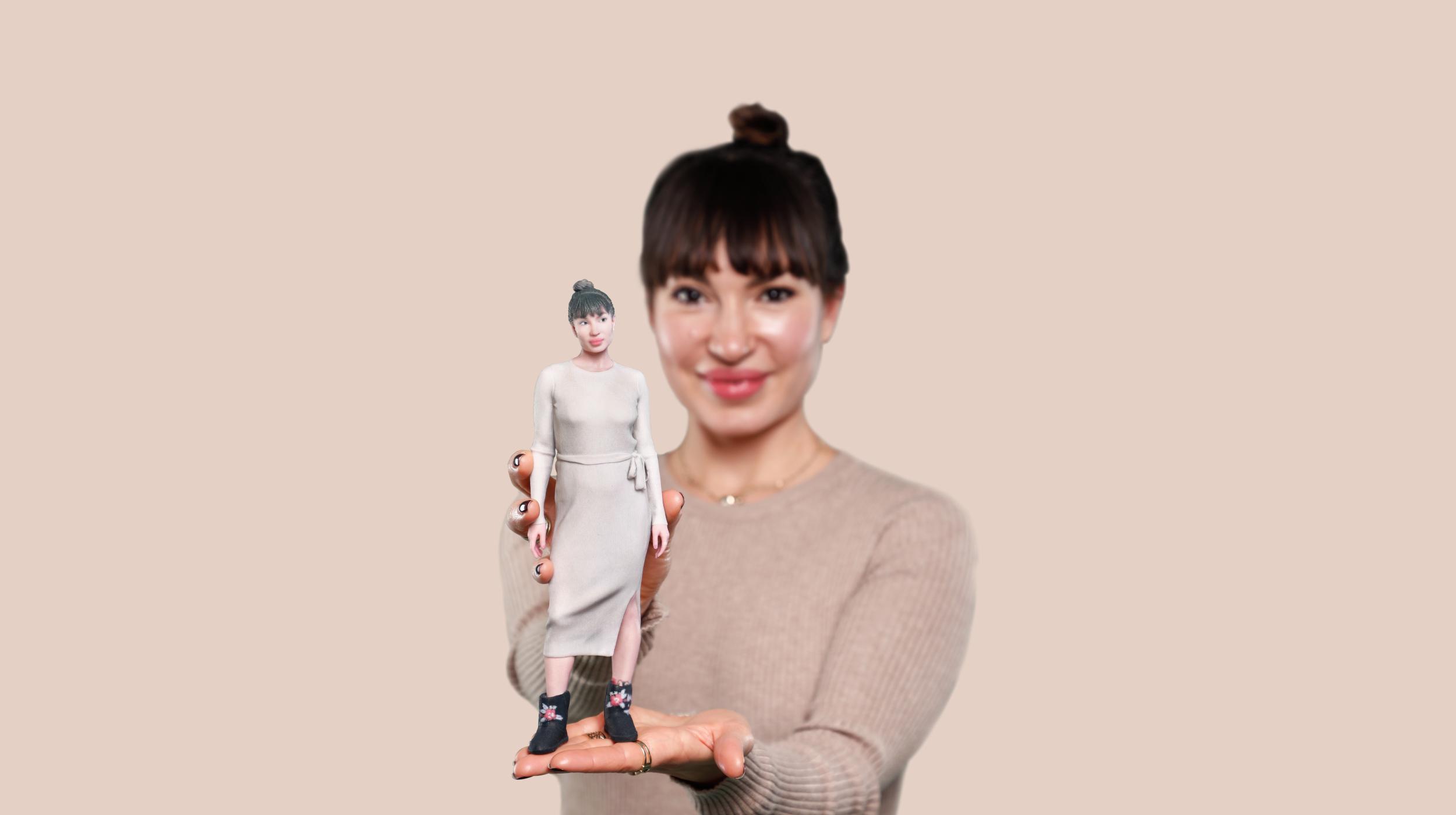 realistisches 3D-Modell eines Mädchens