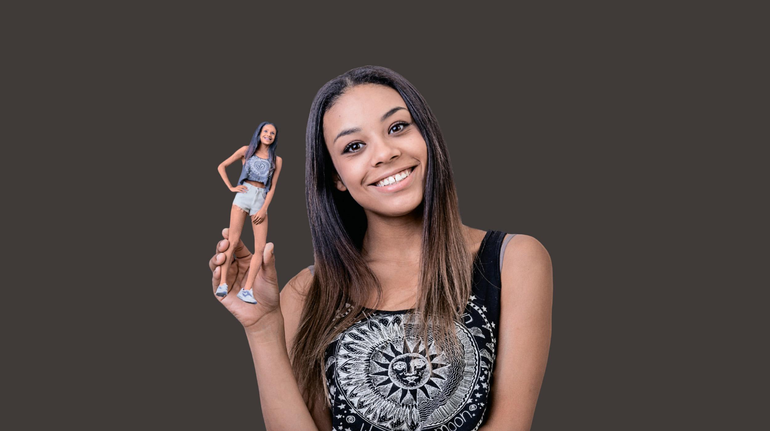 3D-Fotografie eines Mädchens in Hamm