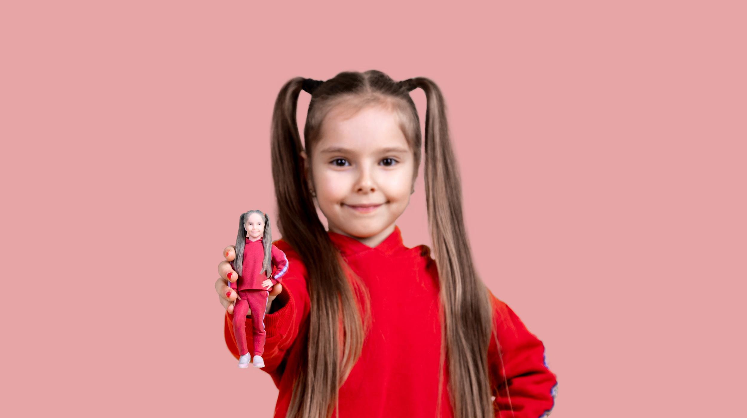 3D gedruckte Replik des Mädchens