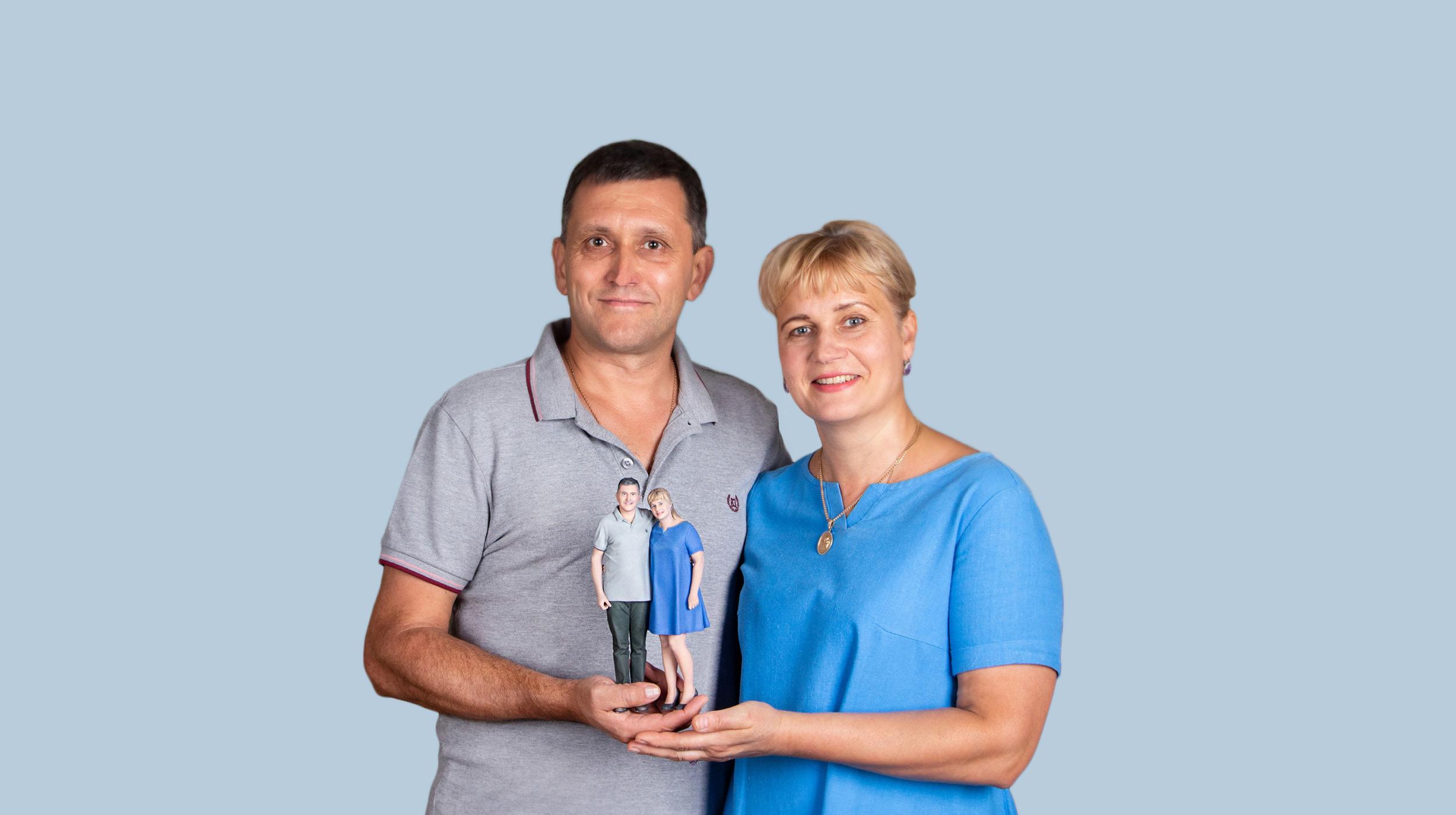 3D-Figur der Eltern