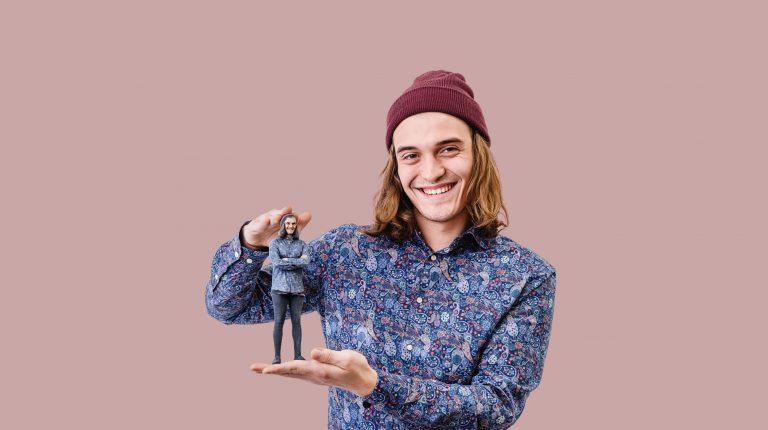 3D-Kopie eines Mannes