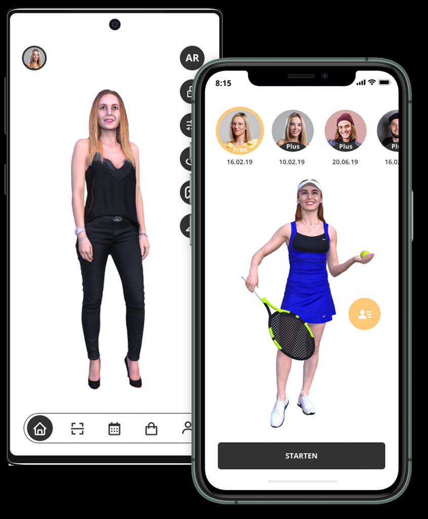 3D-Avatar in einem Smartphone