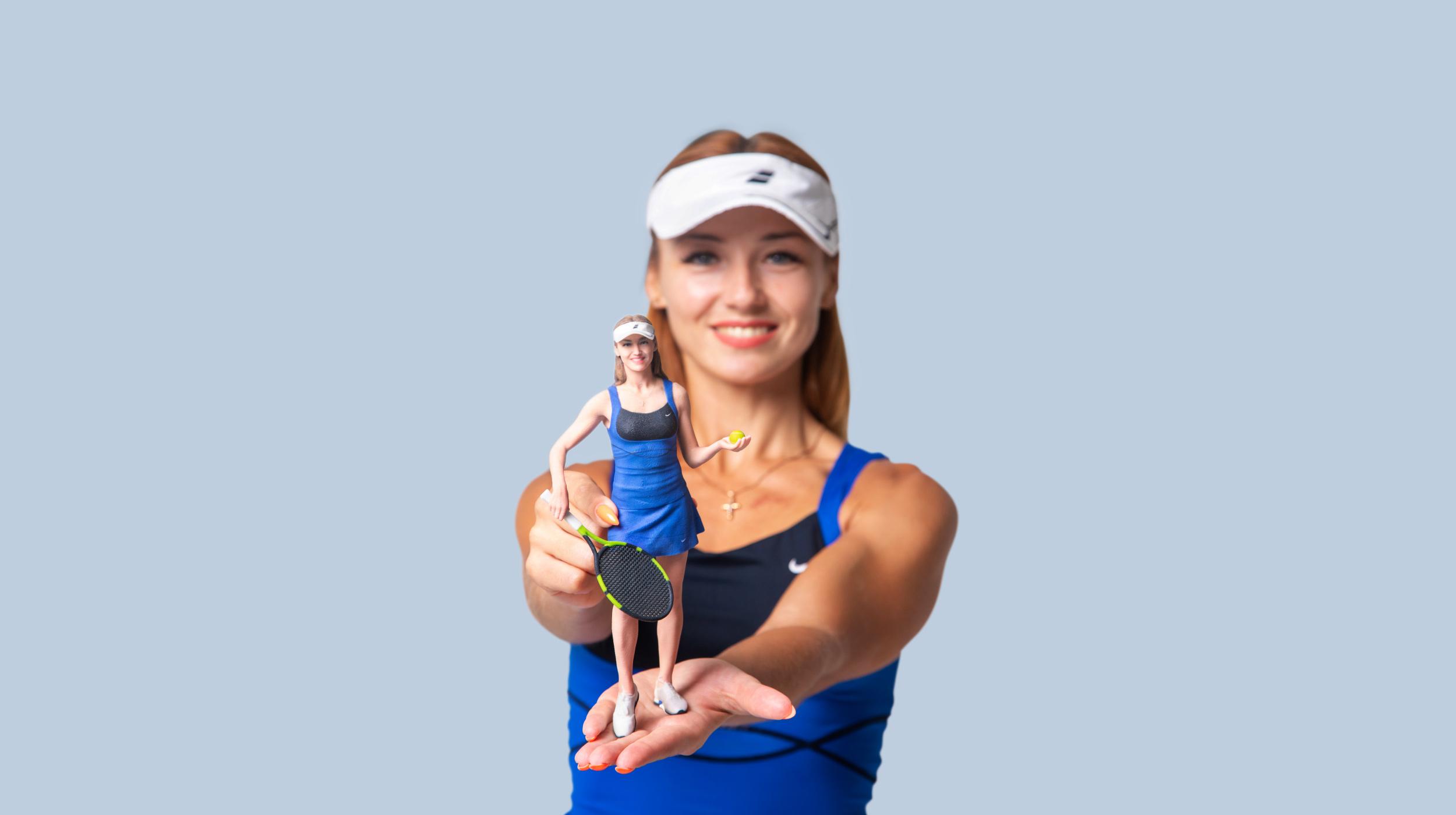 3d figur Tennisspieler