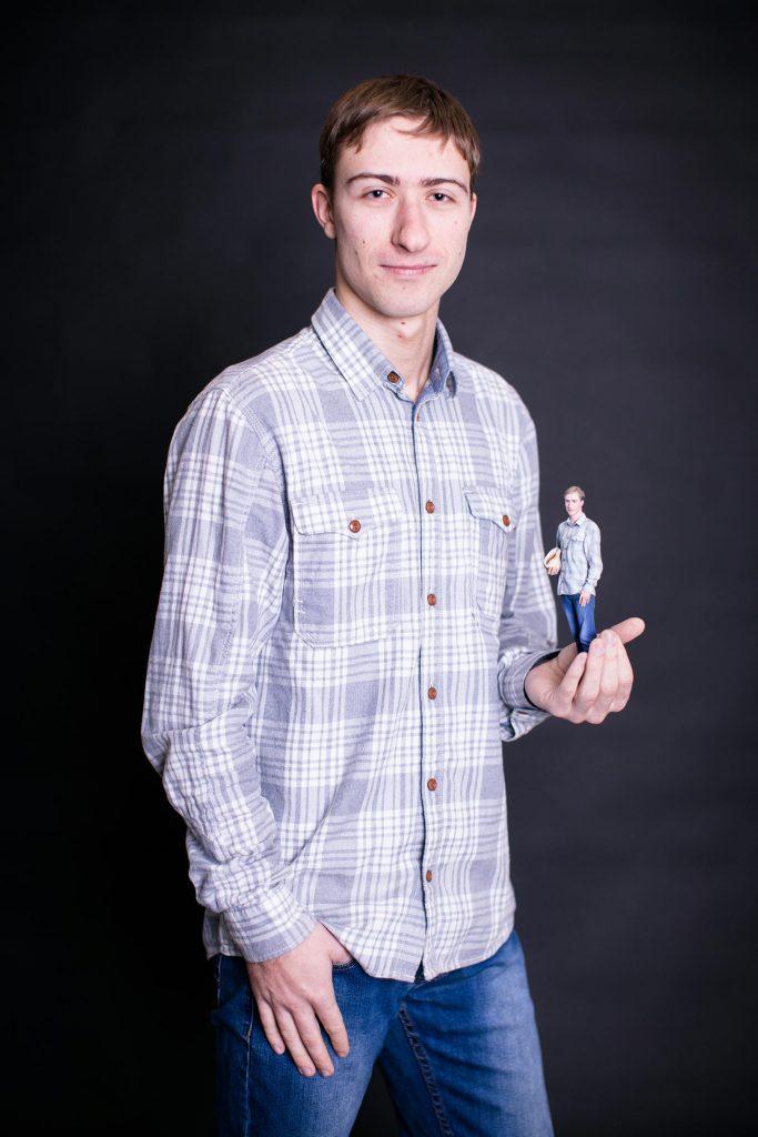 3d Figur eines Kerls mit einem Mushl